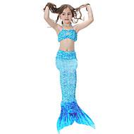 The Little Mermaid Bikini Kupaći kostimi Dječji Božić Maškare Festival / Praznik Halloween kostime Duga Zelen Plava Fuschia Jednobojni