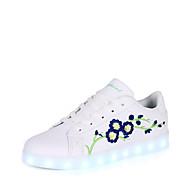 Damen Schuhe PU Herbst Winter Komfort Leuchtende LED-Schuhe Sneakers LED Für Normal Rot Blau Grün und Blau