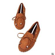 ieftine Pantofi Barcă de Damă-Pentru femei Pantofi PU Primăvară Toamnă Confortabili Încălțăminte de Barcă Toc Drept Vârf Închis pentru Casual În aer liber Fucsia Maro