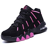 Χαμηλού Κόστους Μπάσκετ-Γυναικεία Παπούτσια PU Άνοιξη / Φθινόπωρο Ανατομικό Αθλητικά Παπούτσια Μπάσκετ Επίπεδο Τακούνι Στρογγυλή Μύτη Λευκό / Μαύρο / Φούξια
