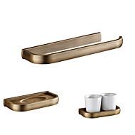 タオルリング 歯ブラシカップ ボックス/ケース 古風 タオルリング 歯ブラシホルダー ソープディッシュ アンティーク真鍮 壁面取付