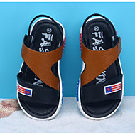 男の子 靴 レザーレット 春 夏 コンフォートシューズ サンダル のために カジュアル ブラック ライトブラウン ダークブラウン