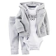 Baby Drenge Tøjsæt Daglig I-byen-tøj Ensfarvet, Bomuld Alle årstider Langærmet Simple Afslappet Grå