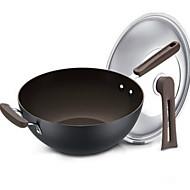 olcso -Műanyag Rozsdamentes acél ötvözet Lapos Pán Többcélú Pot,32*9.3