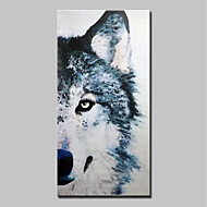 cheap Oil Paintings-Hand-Painted Animals Vertical, Animals Modern Canvas Oil Painting Home Decoration One Panel