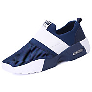 cheap Men's Shoes-Men's Shoes Rubber Spring Fall Comfort Athletic Shoes Walking Shoes Booties/Ankle Boots Ribbon Tie for Outdoor Black Blue
