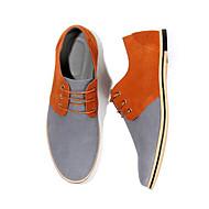 お買い得  メンズスニーカー-男性用 靴 レザー 春 秋 コンフォートシューズ スニーカー のために カジュアル ブラック グレー パープル