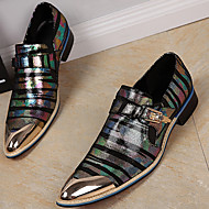 Men's Formal Shoes Nappa Leather Spring / Fall Loafers & Slip-Ons Gold / Black / Party & Evening