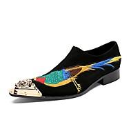 Bărbați Pantofi formali Piele Toamnă / Iarnă Chinoiserie Oxfords Negru / Nuntă / Party & Seară / Pantofi de noutate