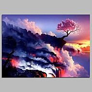 cheap Wall Art-Print Stretched Canvas - Landscape Modern