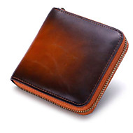 Unisex Bags Cowhide Coin Purse Buttons for Formal Office & Career All Season Wine Brown Dark Green Black
