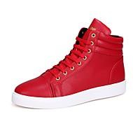 Uniseks Cipele Umjetna koža Proljeće Jesen Modne čizme Sneakers Čizme gležnjače / do gležnja Pletena ljetna obuca za Kauzalni Obala Crn