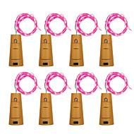 Brelong 8pcs 8led Weinflasche Kupfer Lichterketten für Weihnachten Halloween Hochzeit Dekorationen