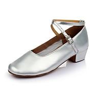 """billige Moderne sko-Dame Barns Dansesko Lakklær Syntetisk Flate Innendørs Lav hæl Gull Sølv 1 """"- 1 3/4"""" Kan spesialtilpasses"""