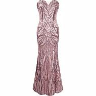 Store Gatsby Sexede Uniformer 1920'erne Kostume Dame Kjoler Cocktail Kjole Maskerade Festkostume Lys pink Vintage Cosplay Polyester Uden