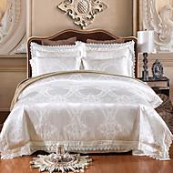 cheap High Quality Duvet Covers-Duvet Cover Sets Luxury 4 Piece Modal Tencel Jacquard Modal Tencel 1pc Duvet Cover 2pcs Shams 1pc Flat Sheet