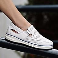 Herre sko Lær Sommer Komfort Treningssko til Avslappet Hvit Blå Burgunder