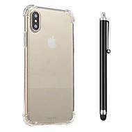 Til iPhone X iPhone 8 iPhone 8 Plus Etuier Stødsikker Transparent Bagcover Etui Helfarve Blødt TPU for Apple iPhone X iPhone 8 Plus