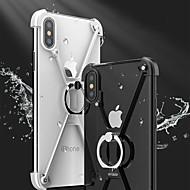 billiga Mobil cases & Skärmskydd-fodral Till iPhone 7 / iPhone 7 Plus / Apple iPhone X / iPhone 8 Stötsäker / med stativ / Ringhållare Stötsäkert fodral Enfärgad Hårt Metall för iPhone X / iPhone 8 Plus / iPhone 8