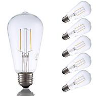 tanie Więcej Kupujesz, Więcej Oszczędzasz-GMY® 6szt 2W 220 lm E26 Żarówka dekoracyjna LED ST19 2 Diody lED COB Przysłonięcia Żarówka Edisona Dekoracyjna LED Light Ciepła biel AC