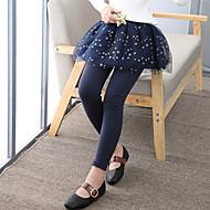 Dívčí Polyester Pléd Celý rok Kalhoty Aktivní Světlá růžová Námořnická modř Fialová