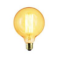 cheap -1pc 40W E27 E26/E27 G125 Warm White K Incandescent Vintage Edison Light Bulb AC 110-130V AC 220-240V V