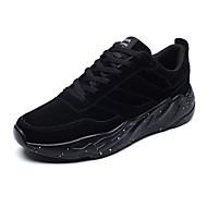 baratos Sapatos Masculinos-Homens Oxford / Couro Outono / Inverno Conforto Tênis Atletismo Preto / Cinzento / Khaki