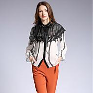 Mulheres Camisa Social Renda, Floral Estampa Colorida