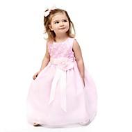 Brzdąc Dla dziewczynek Urodziny / Codzienny Solidne kolory / Kwiat Bez rękawów Bawełna Sukienka Rumiany róż / Śłodkie / Księżniczka