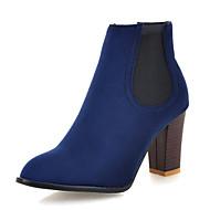 baratos Sapatos de Tamanho Pequeno-Mulheres Sapatos Pele Nobuck Outono / Inverno Botas da Moda / Curta / Ankle Botas Salto Robusto Ponta Redonda Botas Curtas / Ankle Verde