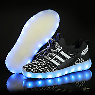 Boys' Sneakers Comfort First Walkers Light Up Shoes Tulle Spring Summer Fall Athletic Casual Outdoor LED Low HeelBlack Blue Blushing Pink