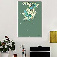 billige Innrammet kunst-Blomstret/Botanisk Olje Maleri Veggkunst,Legering Materiale med ramme For Hjem Dekor Rammekunst Kjøkken Spisestue