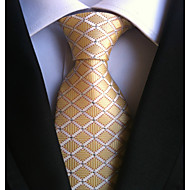 cheap Men's Accessories-Men's Polyester Necktie,Work Casual Plaid/Checkered All Seasons Yellow