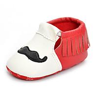 תינוק נעליים דמוי עור אביב סתיו צעדים ראשונים נוחות שטוחות הליכה פרנזים ל קזו'אל שחור אדום