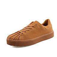 メンズ 靴 ラバー 春 秋 コンフォートシューズ スニーカー 編み上げ のために ブラック グレー Brown レッド ブルー