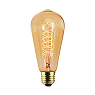 cheap Incandescent Bulbs-1pc 40W E27 E26 / E27 G80 Warm White Incandescent Vintage Edison Light Bulb 220-240V