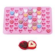 billige Bakeredskap-bake verktøy 55 hull 1,5 mini hjerte silikon kake mold sjokolade fondant gelé cookie muffin is cupcake molds