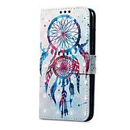 billiga Mobil cases & Skärmskydd-fodral Till Huawei P9 lite mini Korthållare Plånbok med stativ Lucka Magnet Mönster Fodral Drömfångare Hårt PU läder för P9 lite mini