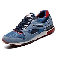 baratos Sapatos Masculinos-Homens Couro Ecológico Outono Conforto Tênis Azul Escuro / Azul Claro