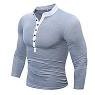 Herre - Ensfarvet Farveblok Bomuld Punk & gotisk Sport Arbejde T-shirt
