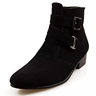 Men's Shoes Leatherette / PU(Polyurethane) Winter Comfort / Fashion Boots / Formal Shoes Boots Mid-Calf Boots Black / Coffee
