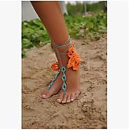 お買い得  靴用品-ファブリック 足のアクセント 女性用 夏 カジュアル オレンジ