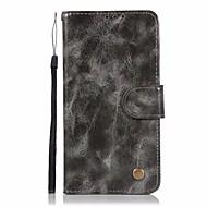 billiga Mobil cases & Skärmskydd-fodral Till LG LG K10 StyLo 3 Q6 Plus Korthållare Plånbok med stativ Lucka Fodral Ensfärgat Hårt PU läder för LG X Style LG X Power LG