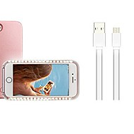 billiga Mobil cases & Skärmskydd-fodral Till Apple iPhone X / iPhone 8 Plus LED Skal Jul Mjukt PC för iPhone X / iPhone 8 Plus / iPhone 8