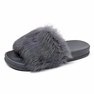 preiswerte -Damen Schuhe PU Sommer Fersenriemen Slippers & Flip-Flops Creepers Runde Zehe für Kleid Schwarz Grau Rosa