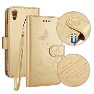 billiga Mobil cases & Skärmskydd-fodral Till Sony Xperia XA1 Korthållare Plånbok med stativ Lucka Läderplastik Fodral Fjäril Hårt PU läder för Sony Xperia XA1 Sony