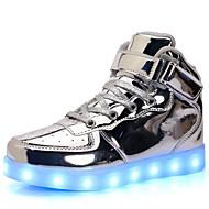 baratos Sapatos de Menina-Para Meninas Sapatos Couro Envernizado / Materiais Customizados Primavera / Inverno Conforto / Tênis com LED Tênis Caminhada Cadarço /