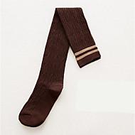 お買い得  靴用品-3ペア 女性用 ソックス ミディアム ストライプ 保温 汗吸収剤 デオドラント コットン EU36-EU42