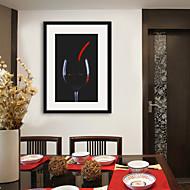 billige Innrammet kunst-Mat abstrakt Tegning Veggkunst,PVC Materiale med ramme For Hjem Dekor Rammekunst Stue Kjøkken Spisestue Soverom Kontor Barnerom