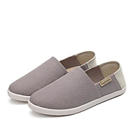 cheap Women's Slip-Ons & Loafers-Women's Shoes Canvas Spring Fall Comfort Loafers & Slip-Ons Flat Heel Round Toe for Casual Dark Blue Gray Red